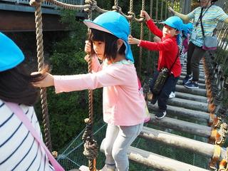 (れ)慎重に冒険橋を渡るよ.JPG
